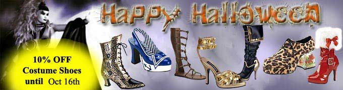10% OFF Costume Shoes and Boots