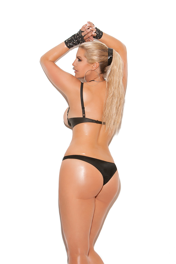 Leather thong.