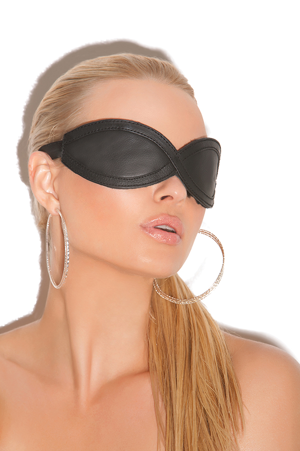 Leather blindfold.