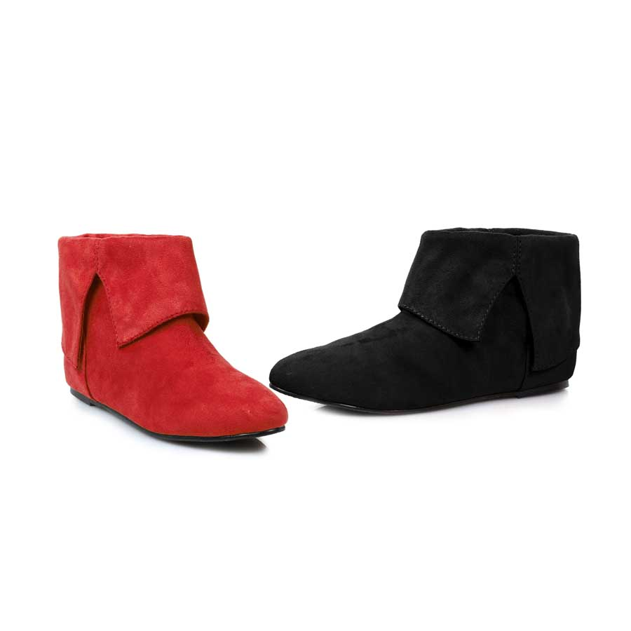 "0"" Microfiber Boot.(Blk-Left, Red-Right)"