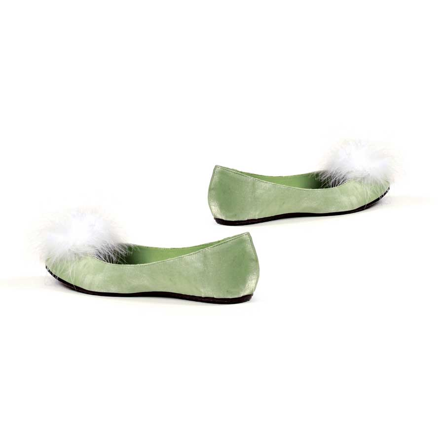 "0"" Heel Satin Slipper with Marabou"