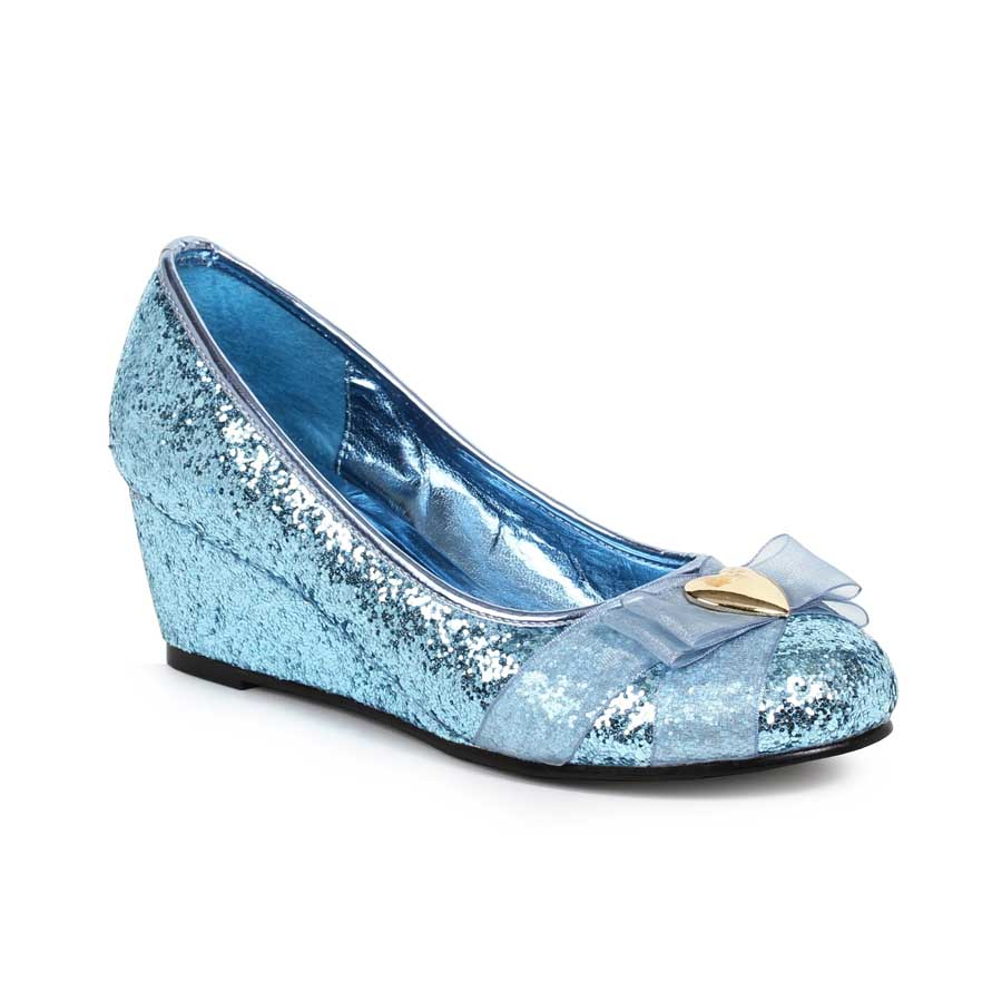 "0"" Heel Women's Glitter Princess Shoe with Heart décor"