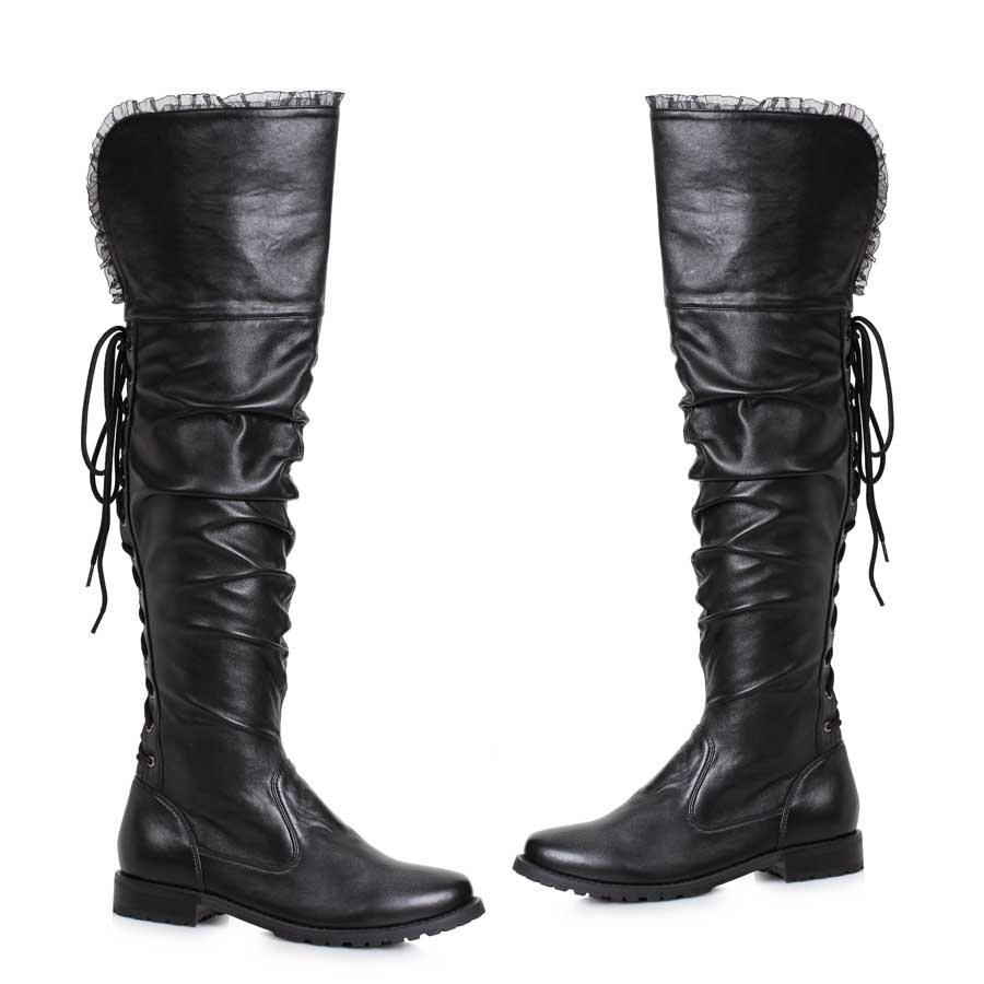 "1"" Heel Over The Knee Pirate Boot"