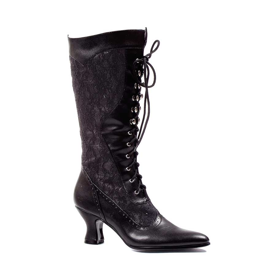 "2.5"" Ankle Boot with Lace and Zipper."