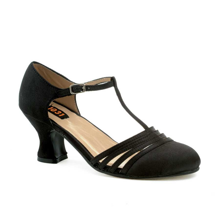 "2.5"" Heel Satin Dance Shoe."