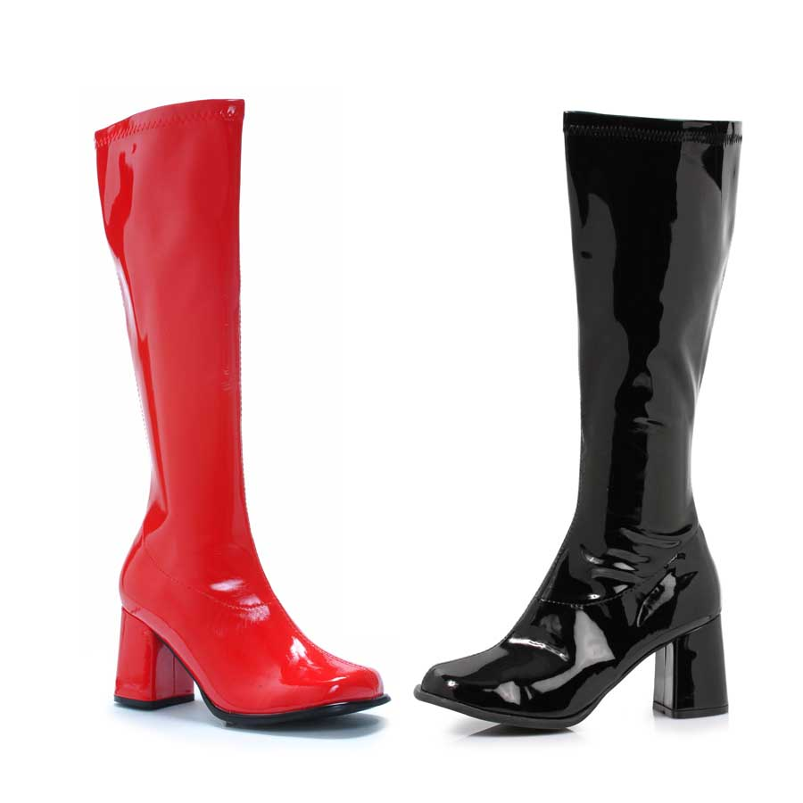 "3"" Knee High Boot (Blk-Left, Red-Right)"