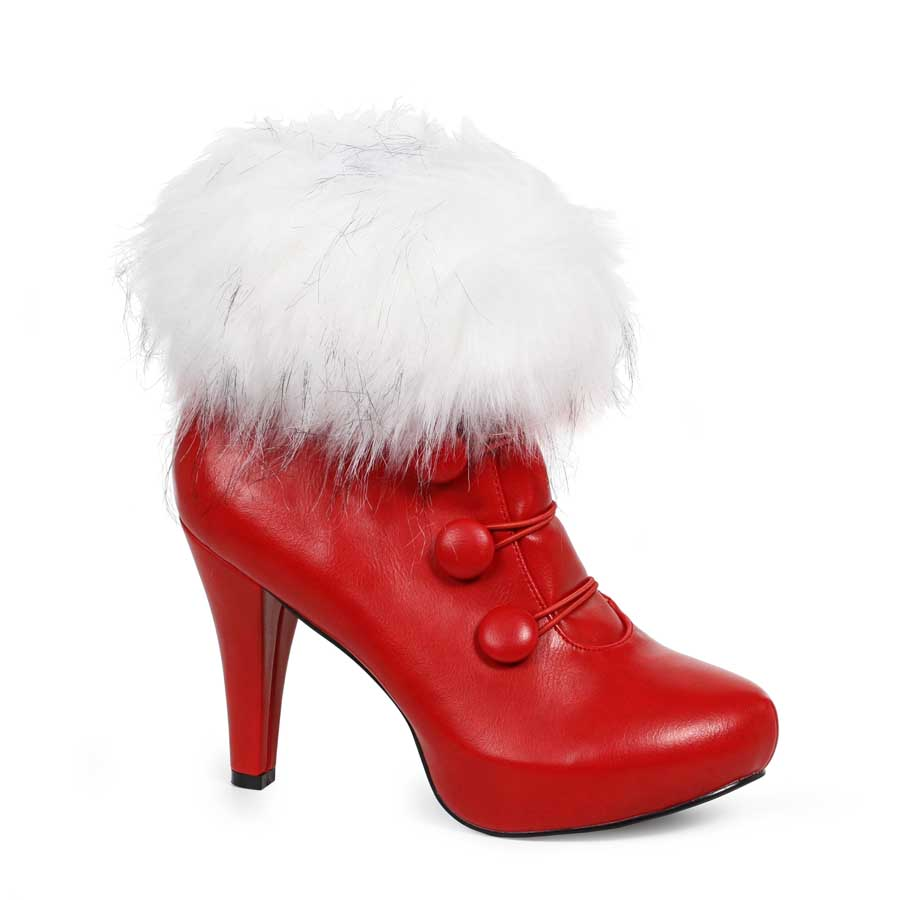 "4"" Womens Bootie with Faux Fur"