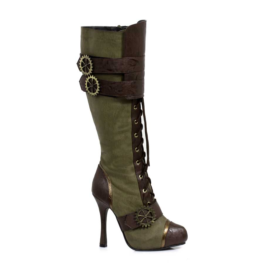 "4"" Knee-High Steampunk Boot with Laces. Womens."