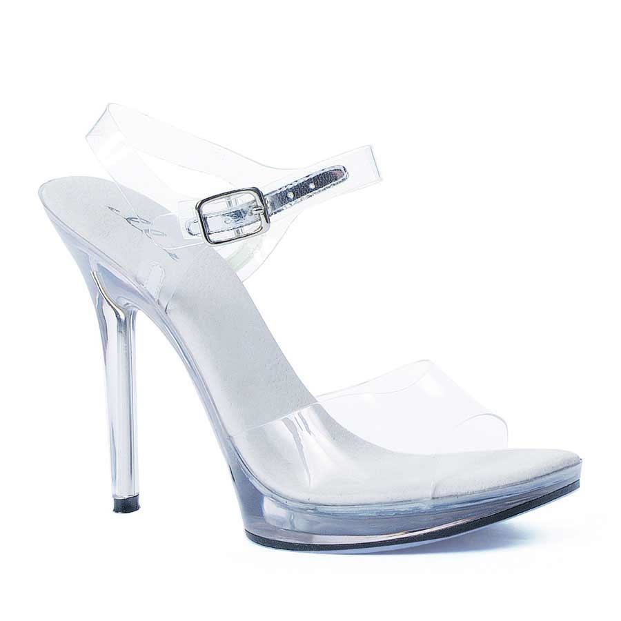 "ES:502-BROOK Clear 5"" Heel Clear Sandal."