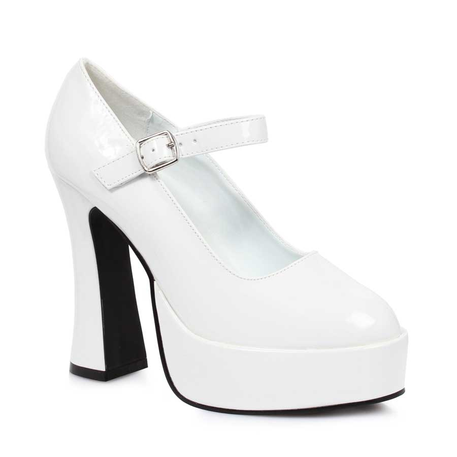 "5"" Chunky Heel with 1.5"" Platform Mary Jane."