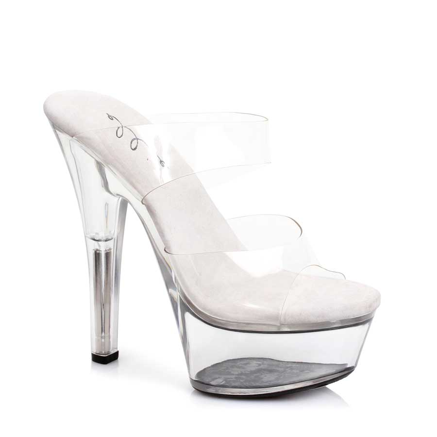 "ES:601-COCO Clear 6"" Heel Clear Sandal."
