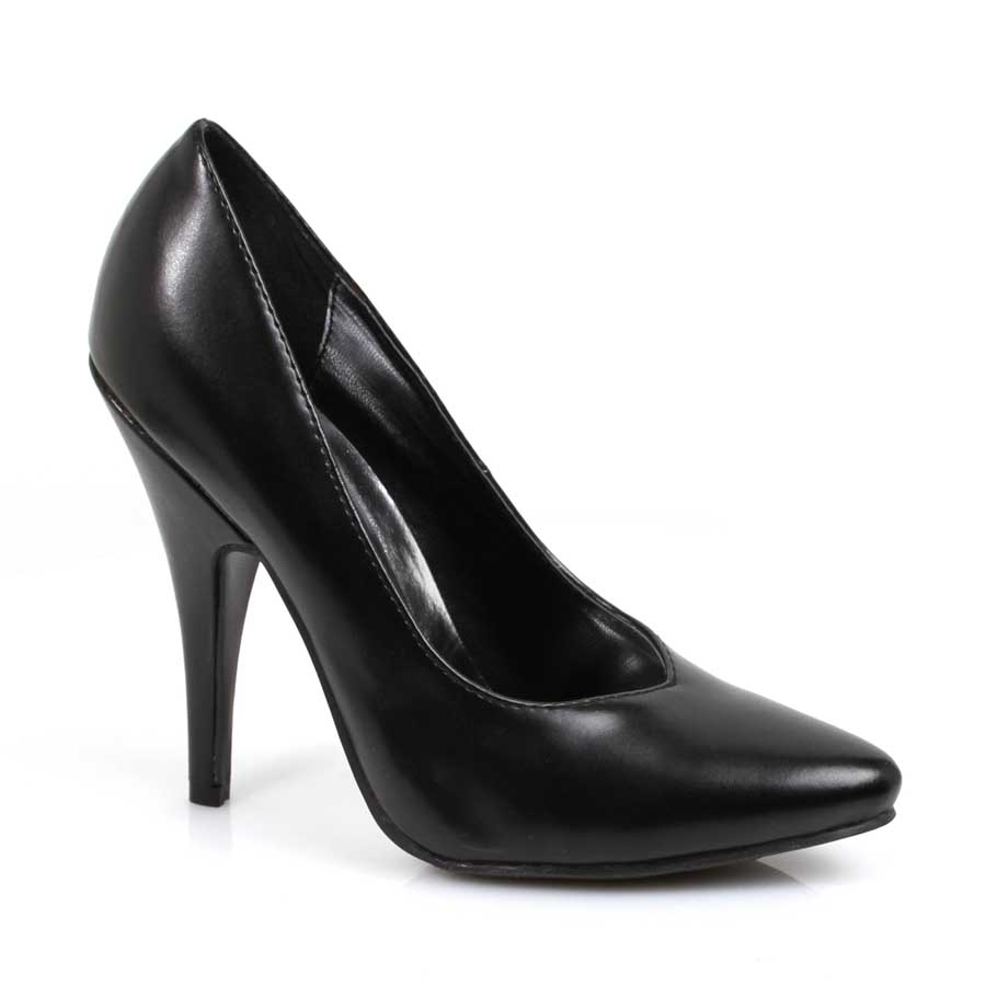"ES:8220"" Black PU 5"" Heel Pumps."
