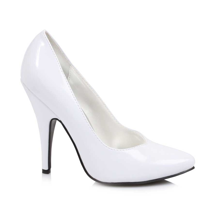 "ES:8220"" White 5"" Heel Pumps."