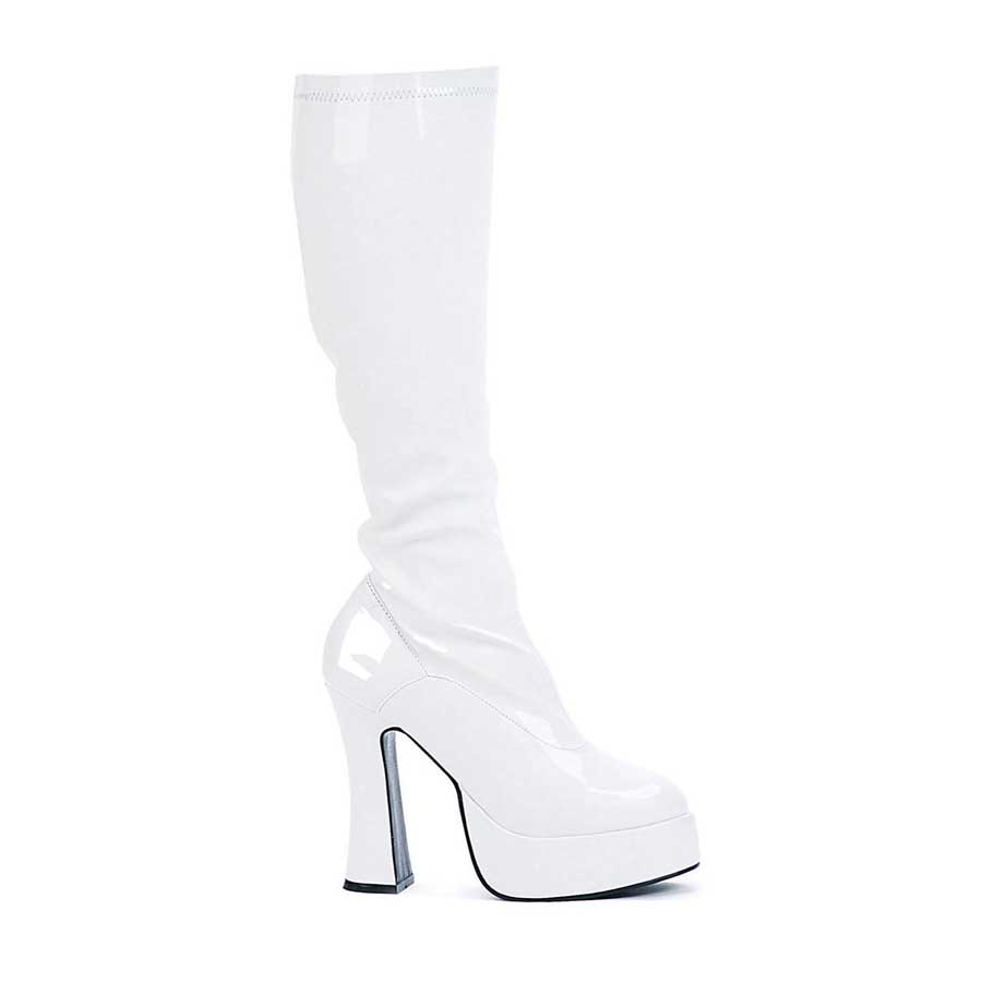 "5"" Heel with 1.5\"" Platform Knee Boots W/Inner Zipper."