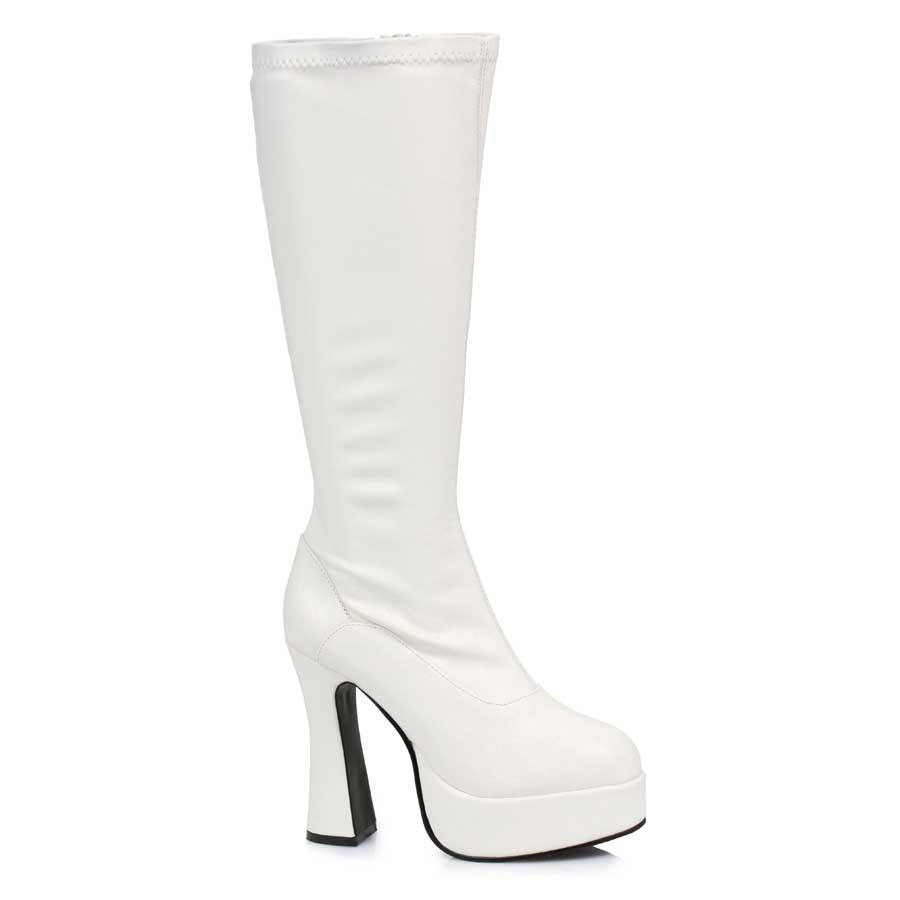 "5"" Heel with 1.5"" Platform Knee Boots W/Inner Zipper."