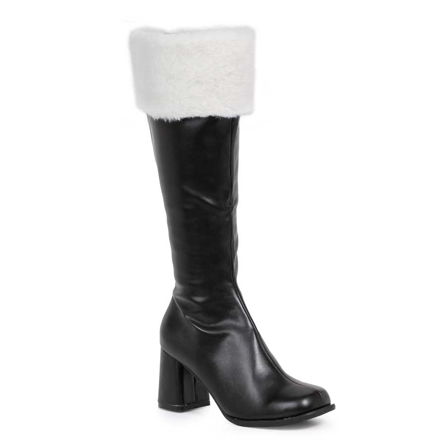 "3"" Gogo Boots W/Zipper & Faux Fur."