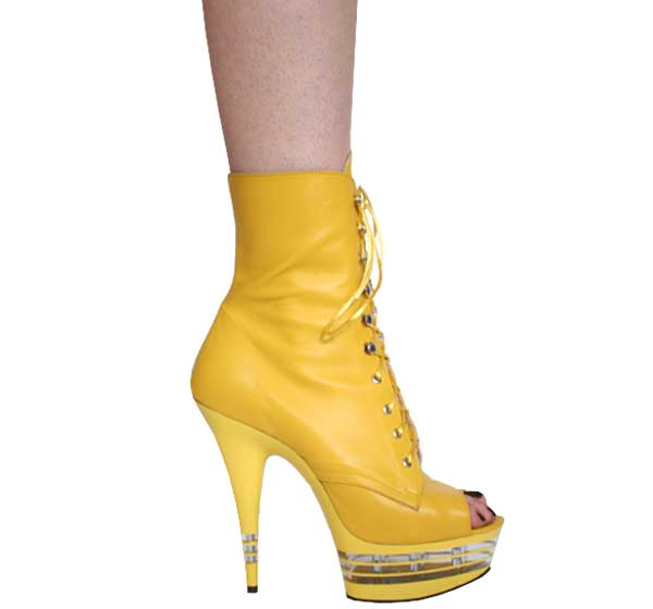 "6"" inch Yellow Leather Ankle Boot - LA"
