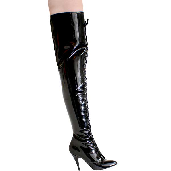 4 1/2 inch Lace Up Thigh High Boot