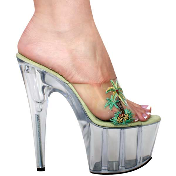 7 Inch Heel With Tropical Theme