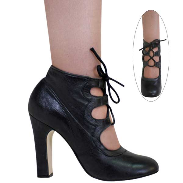 4-1/2 inch Leather Lace Up Ankle Boot