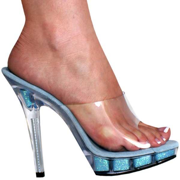 43a4ed6a4a1 5 inch Heel Glitter Mule