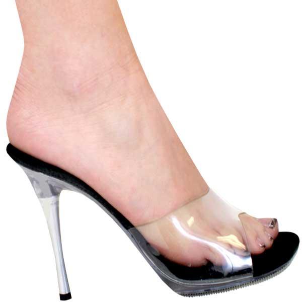5f9a9c8d164 4 Inch Heel Clear w Metal Heel