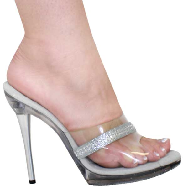 4ba216f8da23 5 inch slip on sandal w metal heel
