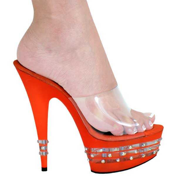 6 Inch Heel with Swarovski Crystals