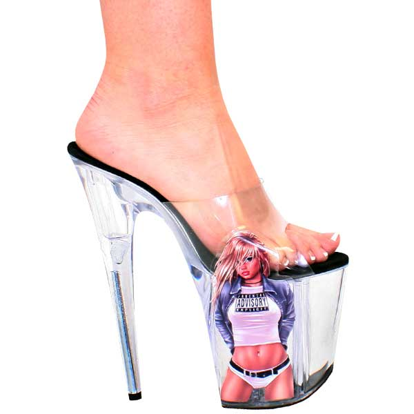 8 Inch Heel Sticker Shoe