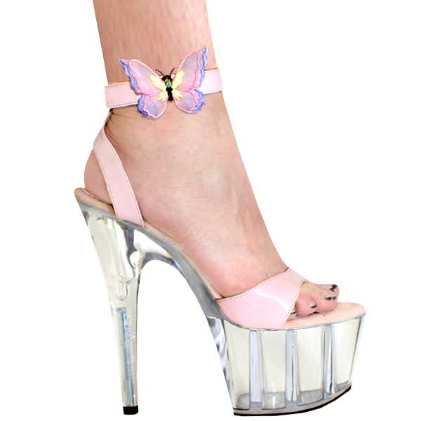 7 Inch Butterfly Ankle Strap High Heel