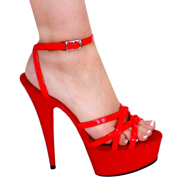 6 inch Strappy Sexy Red Sandal