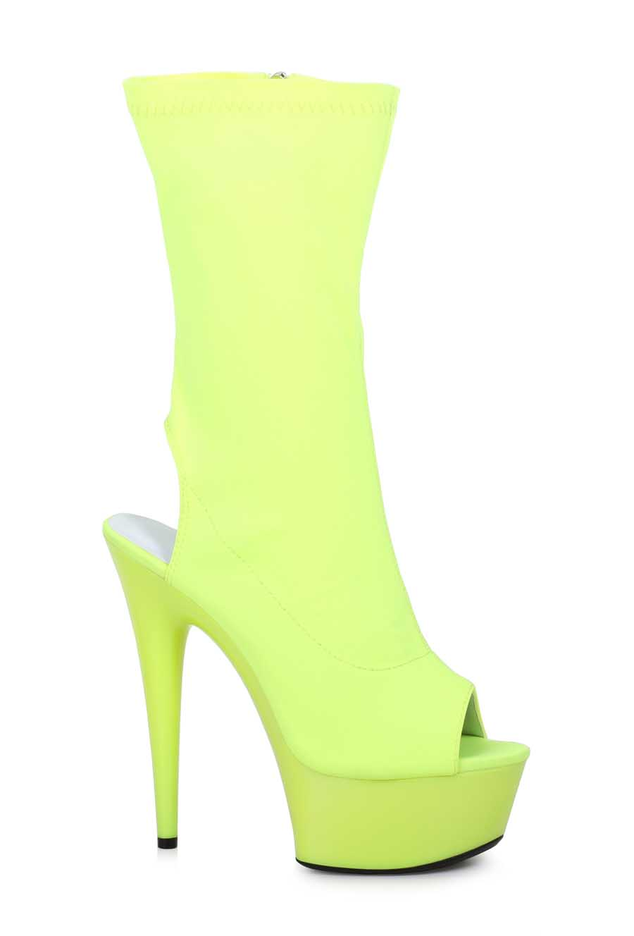 "ES:609-STACY Yellow 6"" Peeptoe Ankle Bootie"