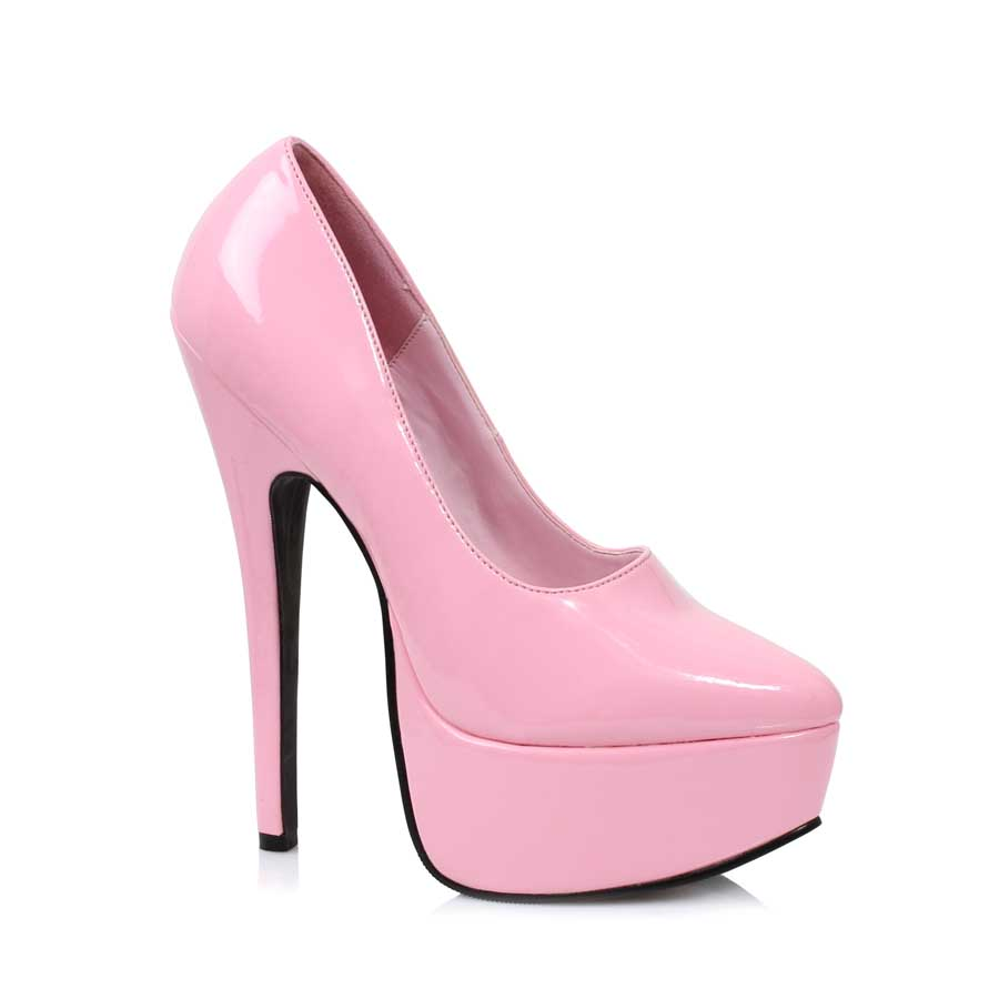 "ES:652-PRINCE Pink 6.5"" Stiletto Heel Pump."