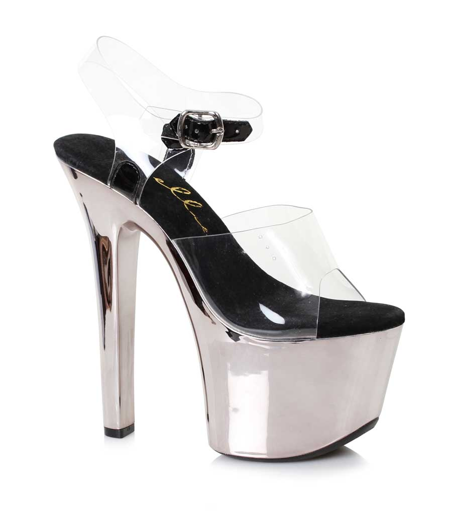 "ES:711-CHRISTY Clear 7"" HEEL POINTED STILETTO SANDAL"
