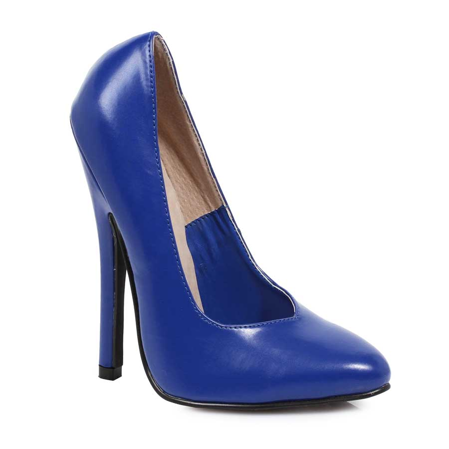 "ES:8260"" Blue 6\"" Heel Fetish Pump."
