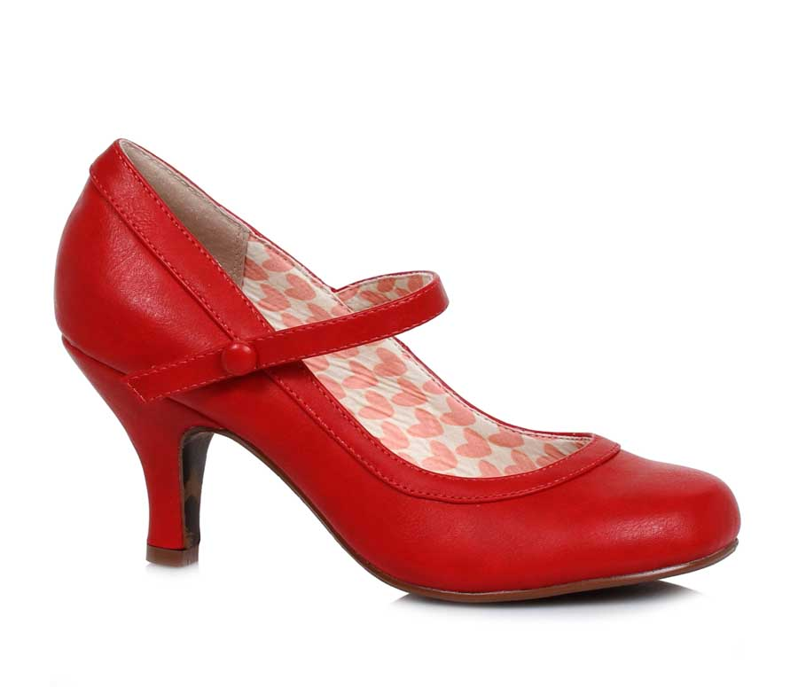 "ES:BP320-BETTIE RED 3"" Retro Mary Jane Heel"
