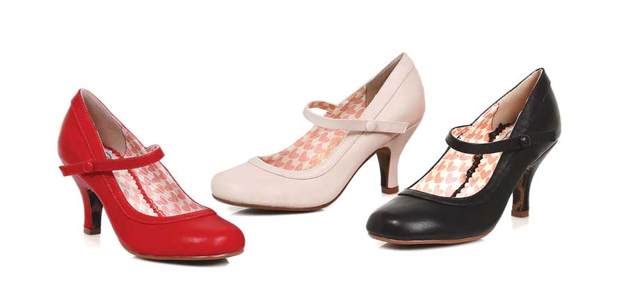"ES:BP320-BETTIE PEACH 3"" Retro Mary Jane Heel"