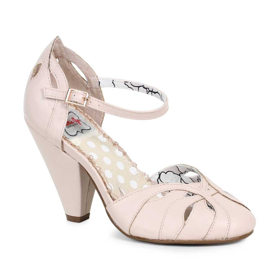"ES:BP403-SALLY Nude 4"" Ankle Strap Pump"