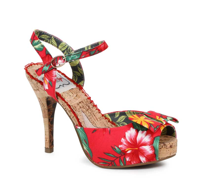 "ES:BP412-LENI RED 4"" Floral Cork Pump"