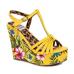 "ES:BP475-MALLORY Yellow 4"" Tiki Wedge"