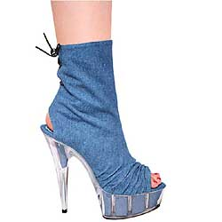 "6"" inch Denim Ankle Boot"