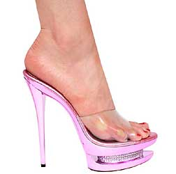 "6"" inch Metallic Pink Platform Slip-on by Vicaro"