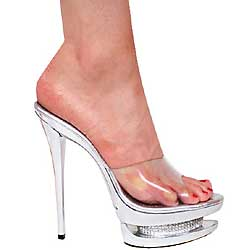 "6"" inch Metallic Silver Platform Slip-on by Vicaro"